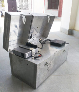 The Solar Projector, designed and engineered by Kiruba Gar, SBI Youth for India Fellow