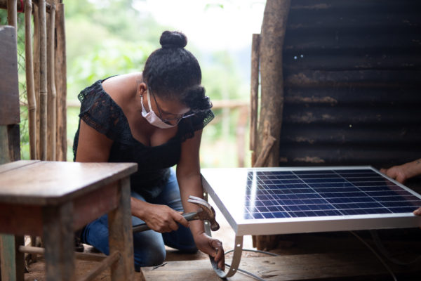 women's day Marta Barefoot solar panel engineer
