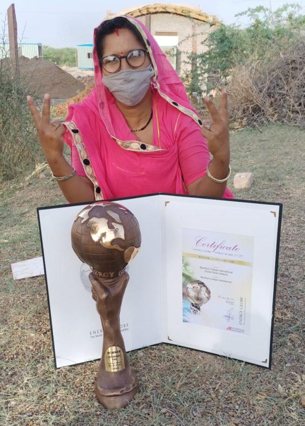 globe award india woman energy solar